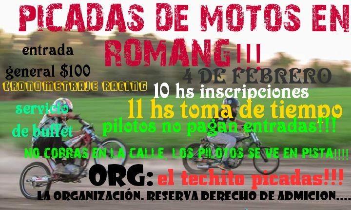 ROMANG PONE PRIMERA CON SUS PICADAS DE MOTOS