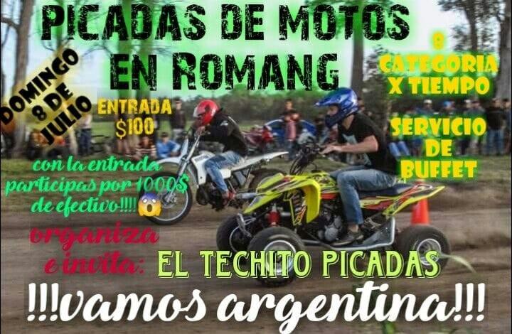 DOMINGO 8 DE JULIO - PICADAS DE MOTOS EN ROMANG