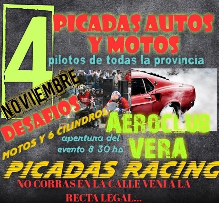 PICADAS - DOMINGO 4 DE NOVIEMBRE, EN EL AERO CLUB VERA SE ACELERA
