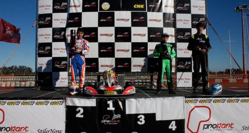 PROKART - Giuli Pereson volvió a la victoria el pasado fin de semana en Zarate.